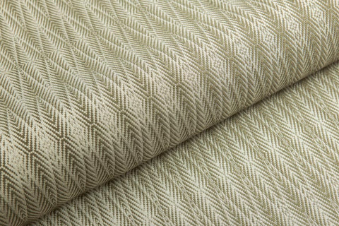 Palm 1 - Olive Green on Ivory - Heritage Silk