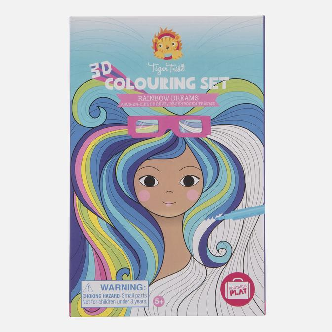 Tiger Tribe 3D  Rainbow Dreams Colouring Set