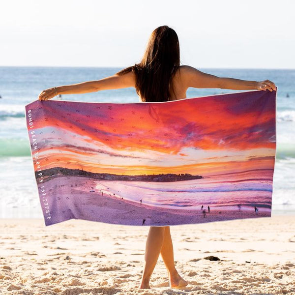 DESTINATION BEACH TOWEL | Bondi Inferno