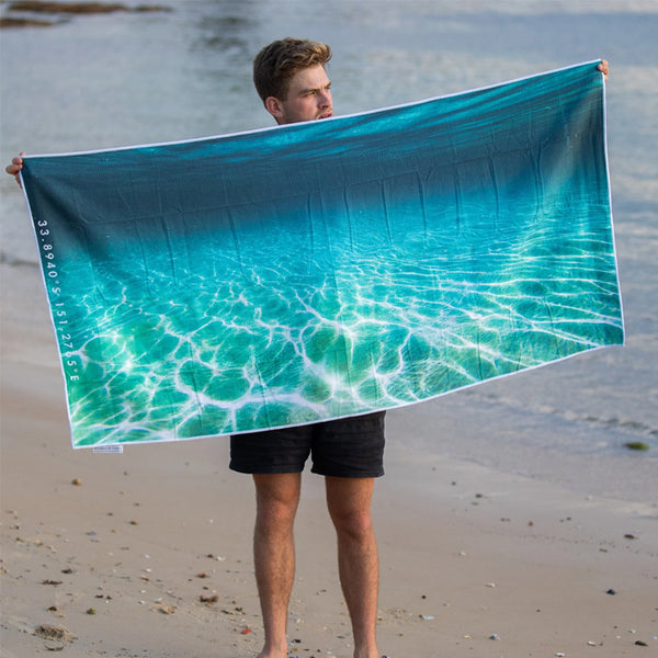 DESTINATION BEACH TOWEL | Ocean Veins
