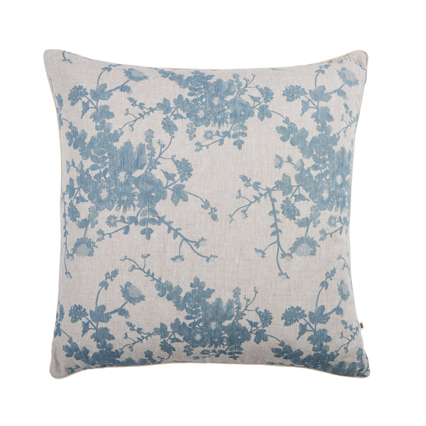 FIELD FLORAL CUSHION 60cm | Dusty Blue | Bonnie & Neil