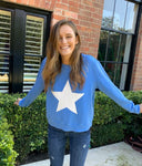 Sophie Moran Zip Star Sweat in blue