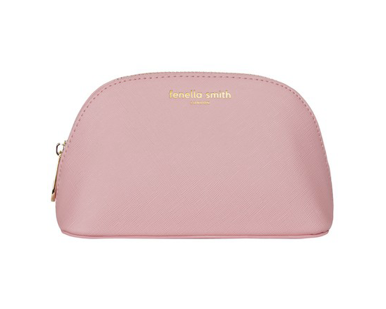 Fenella Smith Vegan Leather Oyster Cosmetic Case in Blush