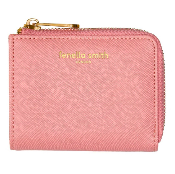 Fenella Smith Vegan Leather Coin Purse in Blush Pink