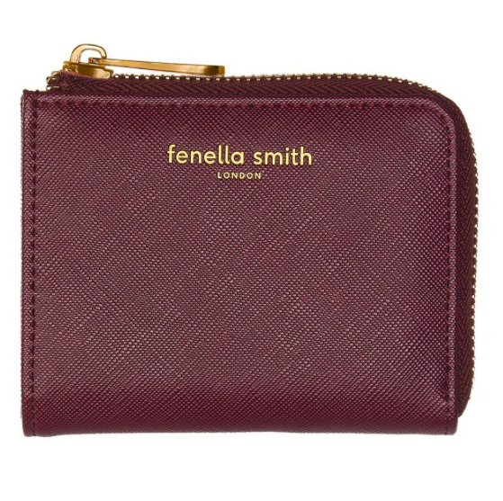 Fenella Smith Vegan Leather Coin Purse Wallet in Burgundy