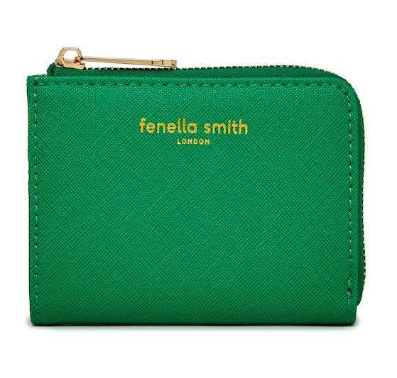 Fenella Smith Vegan Leather Coin Purse in green