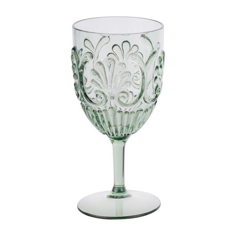 ACRYLIC WINE GLASS | Sage Green