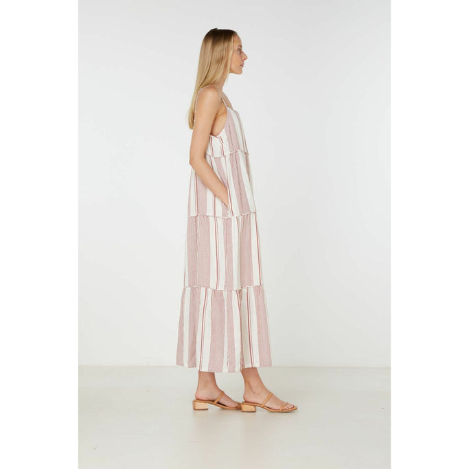 Elka Collective Adele Maxi Dress in Rust