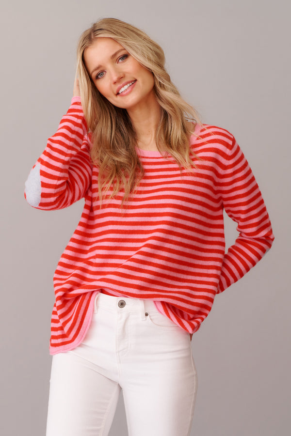 Products L'AMOUR STRIPE SWEATER | Rouge | Alessandra