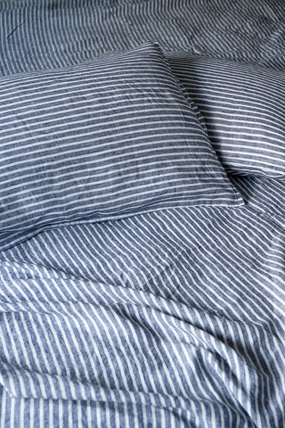 bedtonic sheet set marine ticking stripe