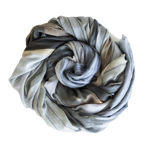 Urban Fable wool silk scarf blue boathouse