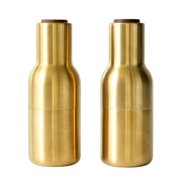 Menu Bottle Grinders in Brass