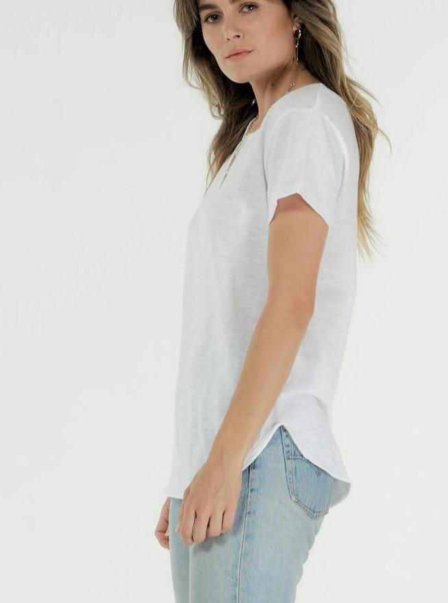 CHARLOTTE TEE | White | Cle the Label