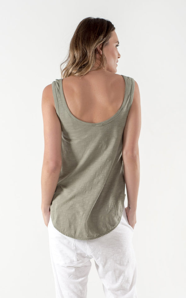 ZOEY TANK | Khaki | Cle the Label