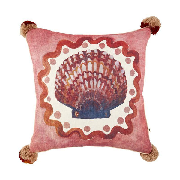 Bonnie and Neil Coast Pink 50cm cushion with feather insert
