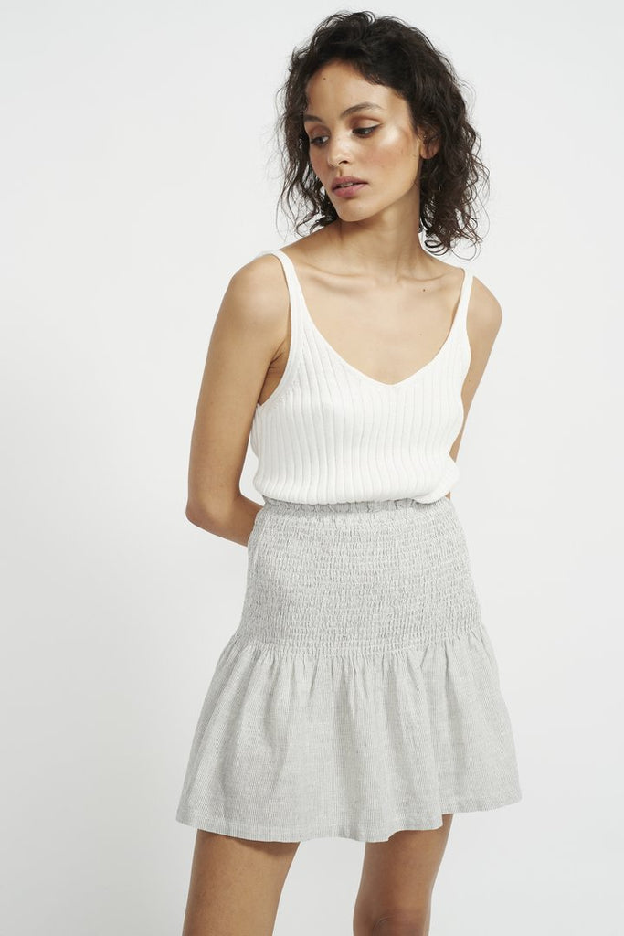 Staple The Label Crescent Knit Tank in white