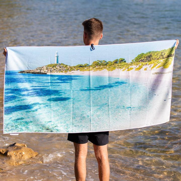 DESTINATION BEACH TOWEL | Lighthouse Blues