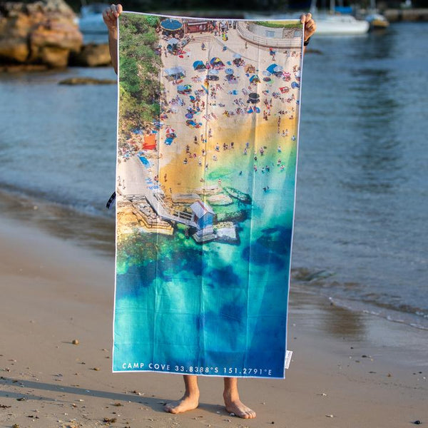 DESTINATION BEACH TOWEL | Camp Cove Corner