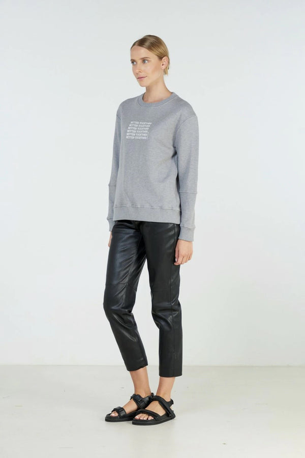 BETTER TOGETHER SWEATER | Charcoal Marle | Elka Collective