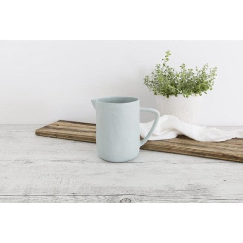 Flax Water Jug 16cm Duck Egg Blue