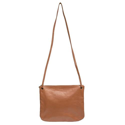 Bahru Florence Leather crossbody Bag in caramel