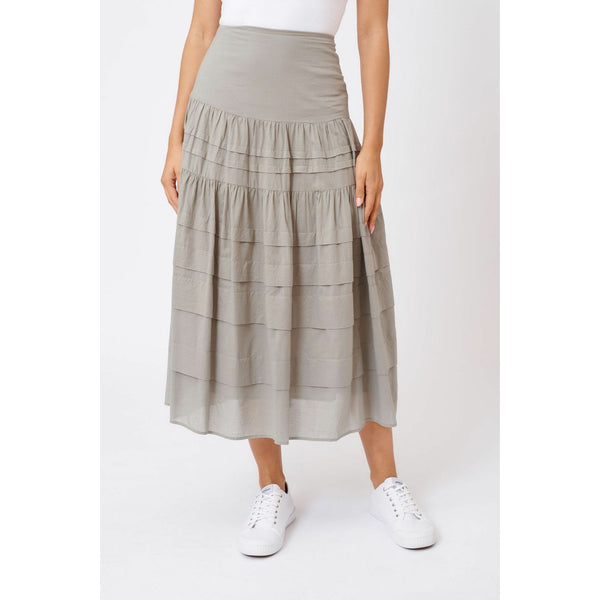 Alessandra Freesia cotton skirt in sage