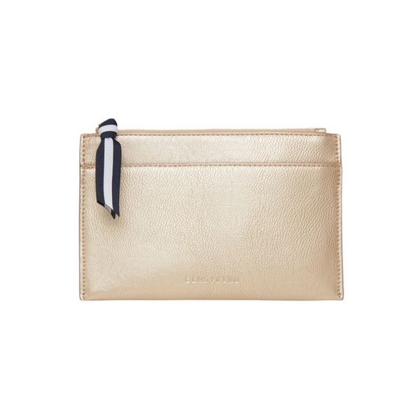 Elms and King New York coin purse in light gold