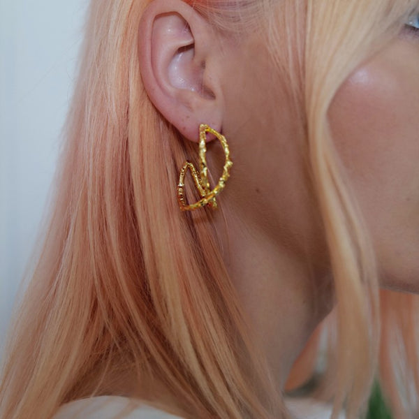 Jolie & Deen Harriet Hoops in gold