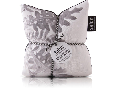 Organic Lavender & Jasmine Heat Pillow (grey botanical)