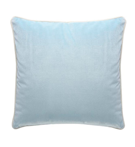 Darcy and Duke SOHO VELVET CUSHION 50cm | Ice Blue