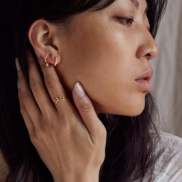 Jolie and Deen Jose Sleeper Earrings in Gold
