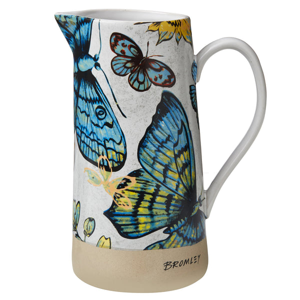 Robert Gordon x Bromley Co 1.5l jug with butterflies