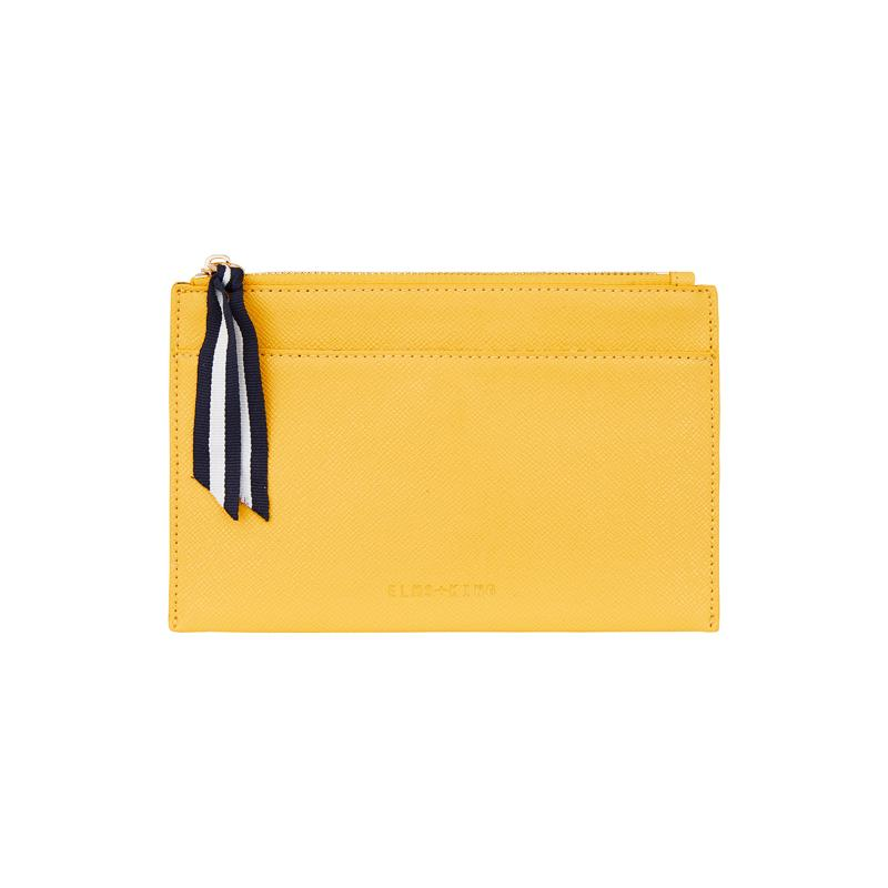 Elms and King New York Coin Purse in lemon