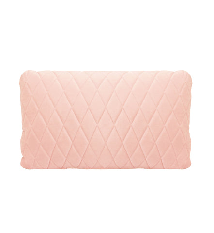Darcy and Duke Coco Velvet Lumbar cushion in baby pink
