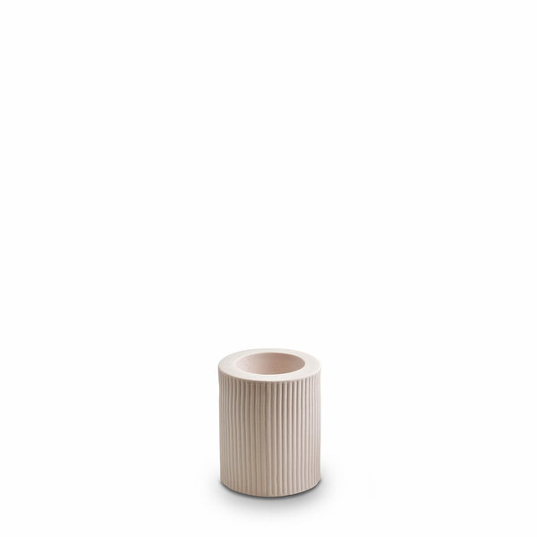 RIBBED INFINITY CANDLE HOLDERS M | Nude | Marmoset Found
