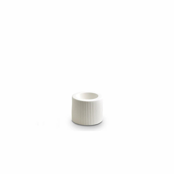 RIBBED INFINITY CANDLE HOLDER S | Snow | Marmoset Found