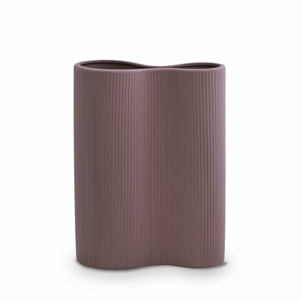 RIBBED INFINITY VASE M | Plum | Marmoset Found