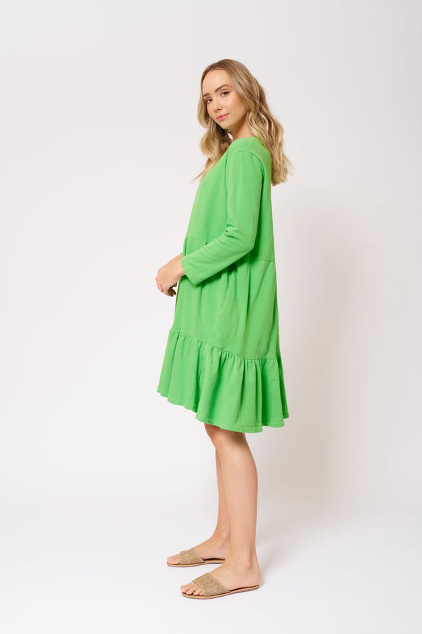 Alessandra Millie Dress in Lime Green