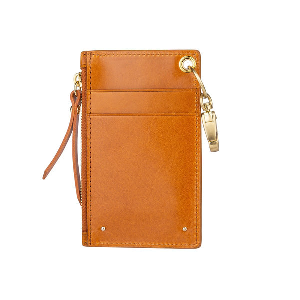 Sancia The Mimmie Card Pouch in tan