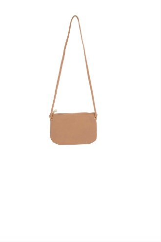 Bahru Leather Mini Florence crossbody wallet bag in blush