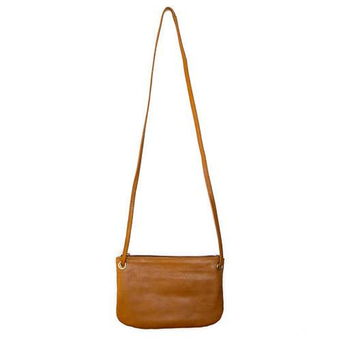 BAHRU MINI FLORENCE CROSSBODY WALLET BAG | Caramel