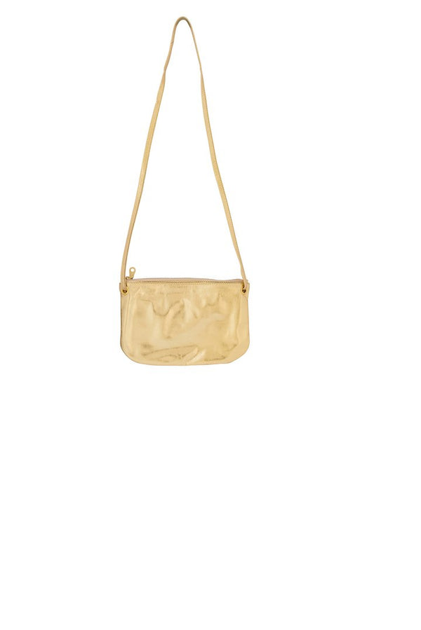 Bahru Leather Mini Florence crossbody wallet bag in gold