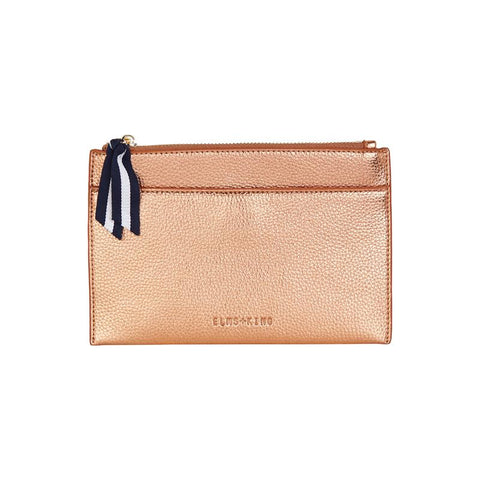 Elms and King New York coin purse in rose gold