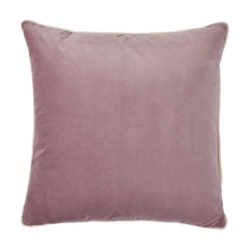 Bonnie and Neil Velvet Cushion 60cm in musk