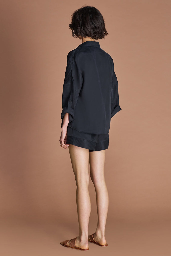 Sancia Naemi Shirt in Onyx Black