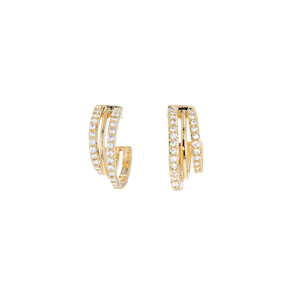Jolie & Deen Natalia Earrings in gold