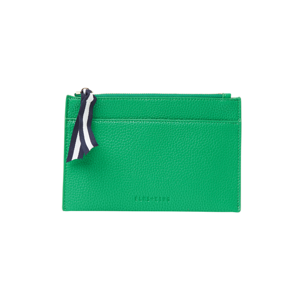 elms and king coin purse clutch in green