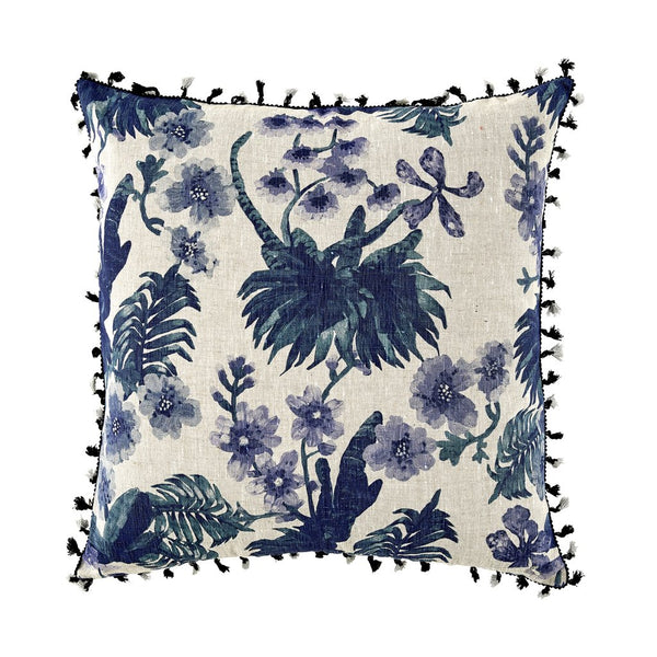 Bonnie and Neil Orchid Cushion in Blue 60cm