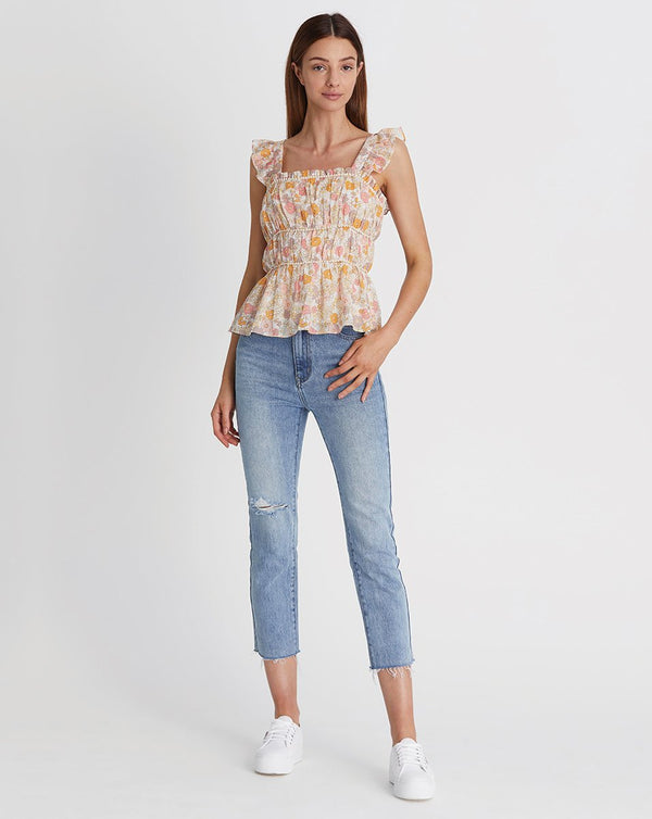 We are Kindred Pia Gathered Cami in Daisy print