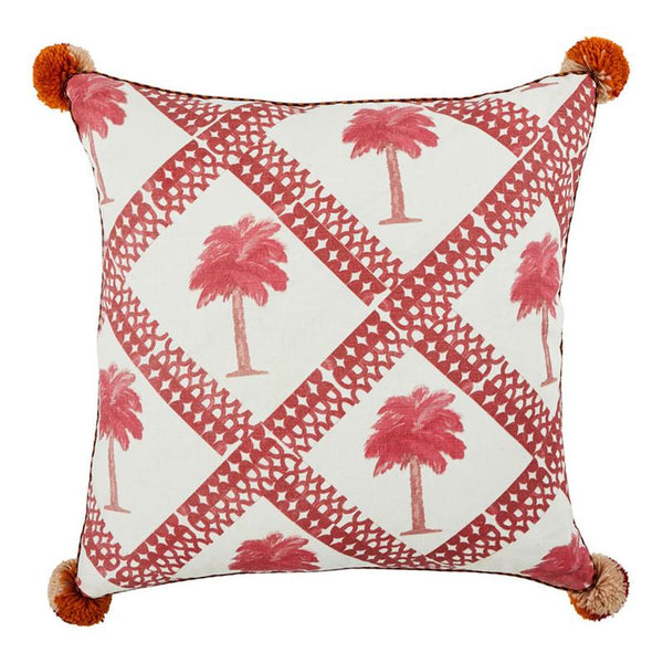 Bonnie and Neil Tiny Palms 60cm cushion in Pink